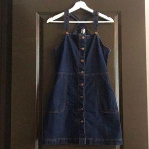 Mini Jean Jumper Dress